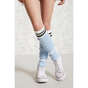 Forever 21 Striped Ribbed Leg Warmer
